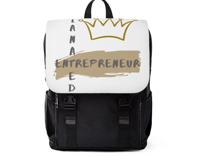 Melanated Entrepreneur Casual Shoulder Backpack