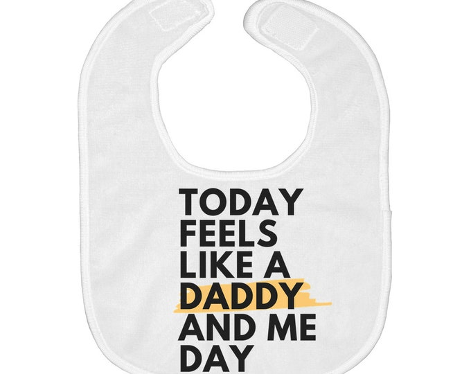 Daddy And Me Baby Bibs W/Matching Onesie (Sold Separately)