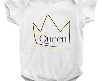 Queen Onesies W/ Matching Bib (Sold Separately)