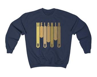 Melanin Drip Unisex Heavy Blend Crewneck Sweatshirt