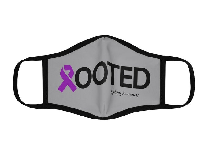Epilepsy Awareness Fitted Polyester Face Mask