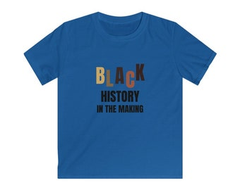 Black History in the Making Kids Softstyle Tee