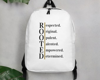 Minimalist  Rooted Words Backpack