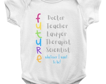 The Future2 Onesies W/Matching Bib (Sold Separately)