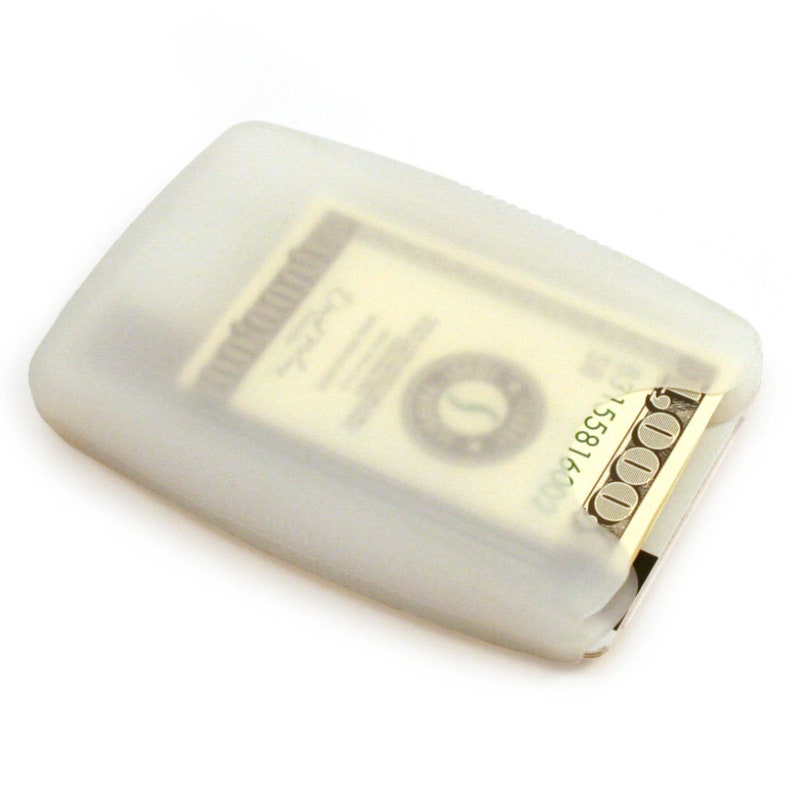Gift Storus Jelly Wallet\u2122 Minimalist Credit Card Holder Cash Organizer No-slip Silicone for Men Women Student Translucent Clear White