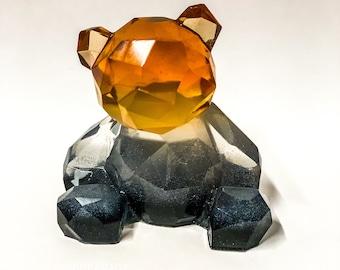 Bears Pride Flag colours, Handmade Bear figurine , epoxy resin