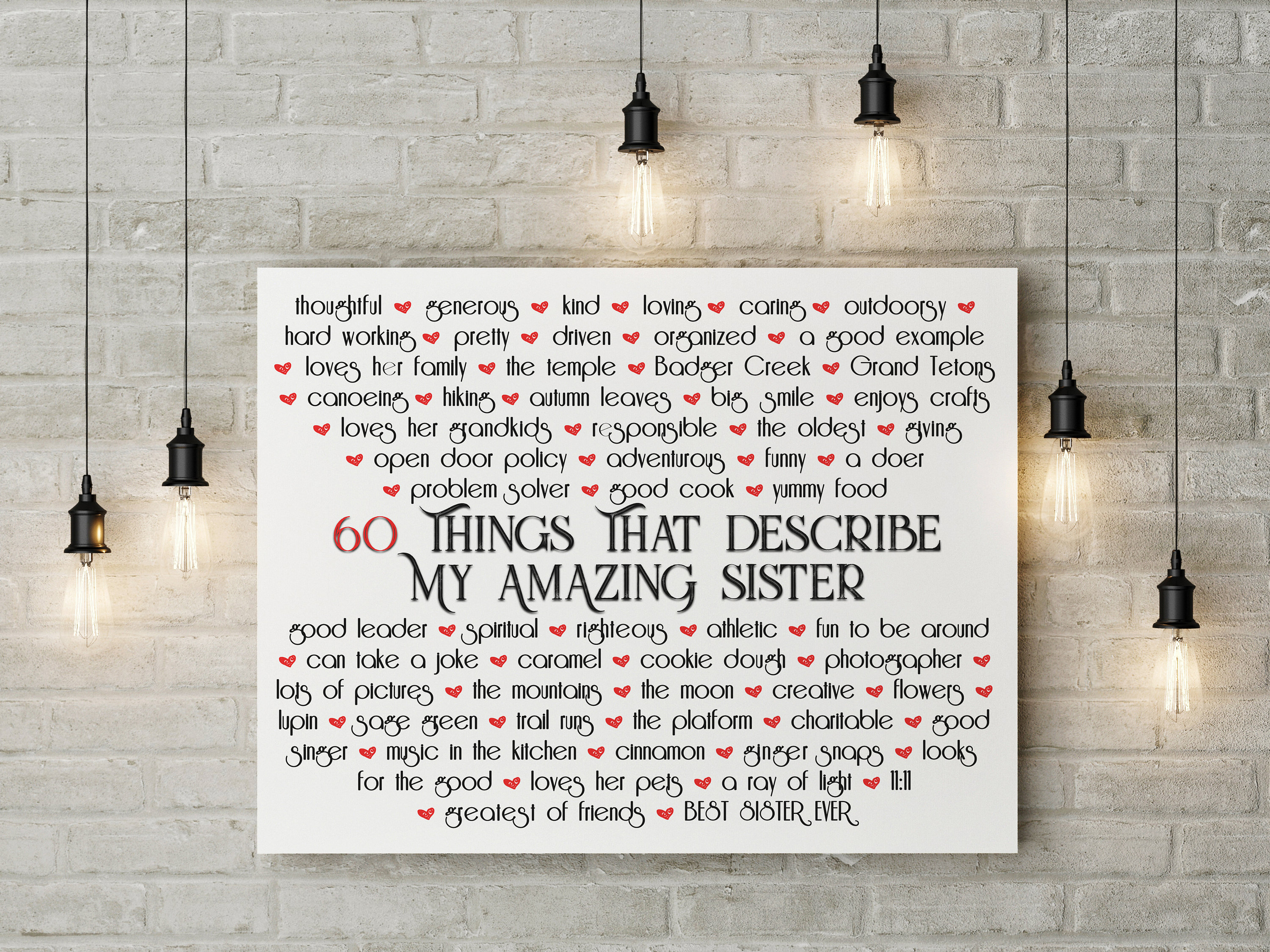 50 Reasons Friendship, Personalized quotes canvas, 50 Quotes ...