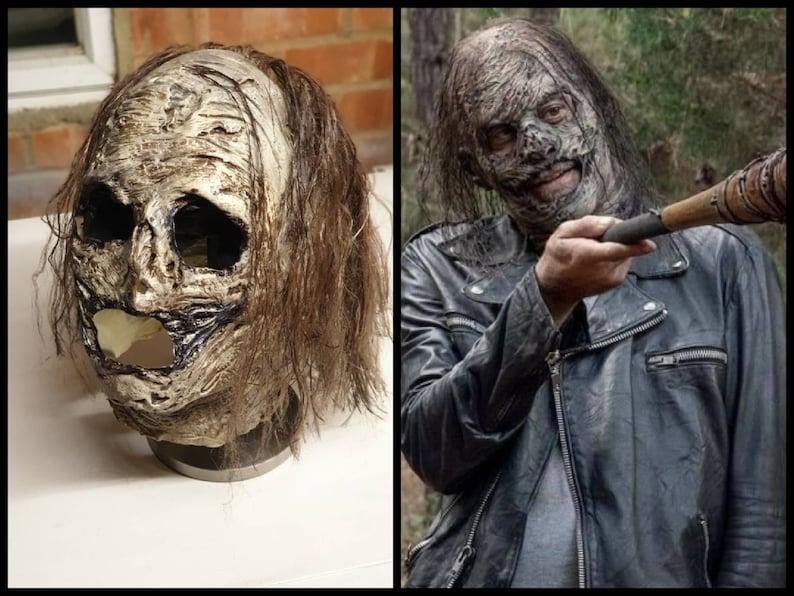 The Walking Dead Mask  Negan Whisperer Mask Cosplay Replica image 0