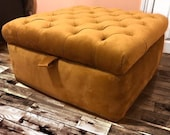 2ft6 quot chunky chesterfield ottoman storage box footstool coffee table