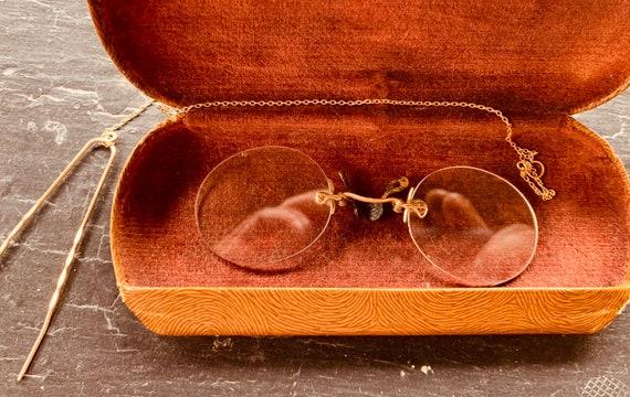 Vintage clip-on glasses