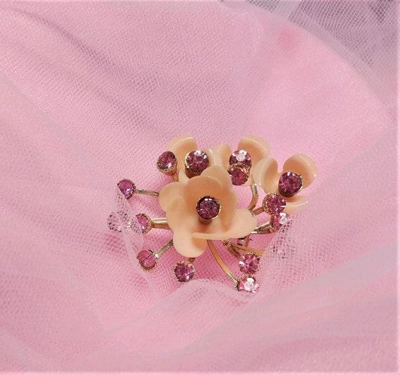 Delicate Pink Floral Brooch