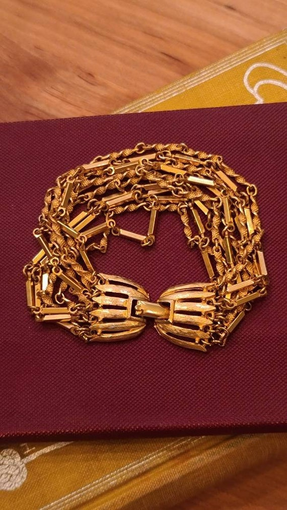 Lovely Gold-Tone Multi Chain Bracelet