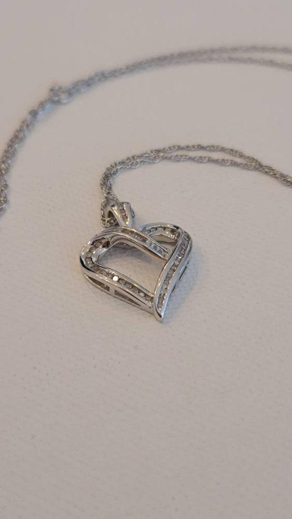Genuine Diamond Heart Pendant