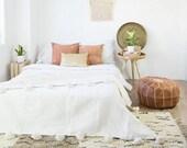 Moroccan pom pom blanket, pom pom blanket, woven blanket, Throws blanket, tassels blanket,blanket, bed spread, woven blanket, king bed cover