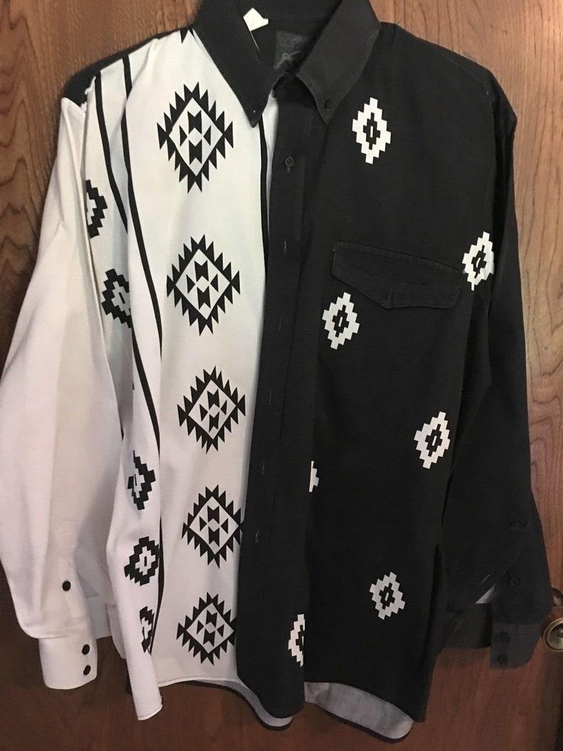 Vintage Roper western Shirt   buttoned 80-90/'s size Large 1612  36