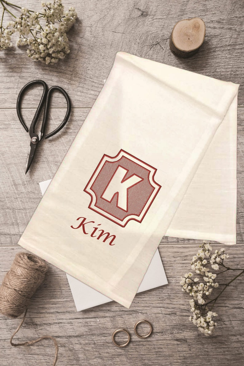 Embroidered . Tea-Towel .  Kitchen Decor . Home and Living  . image 0