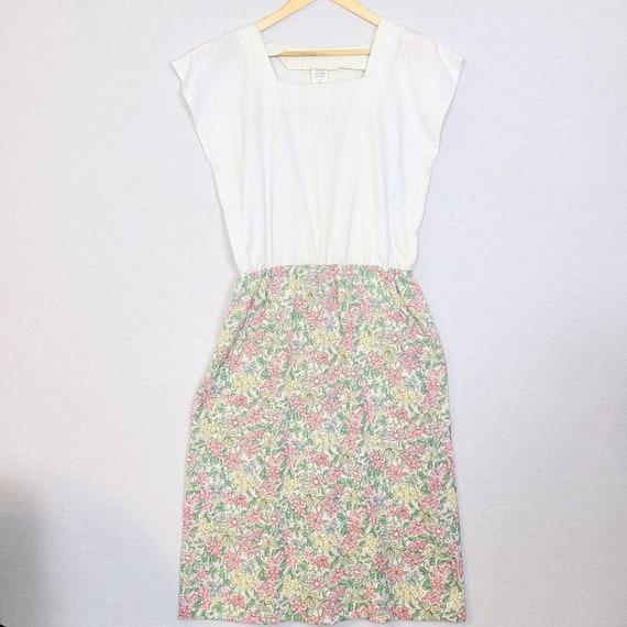Vintage 70s Cottagecore Floral Dress