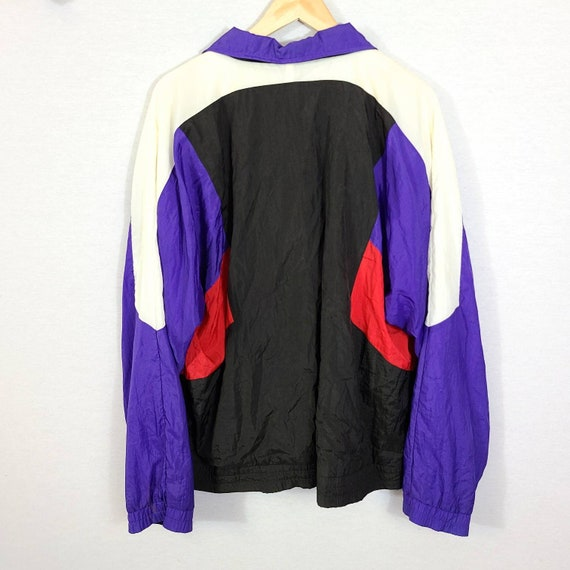 Vintage Colorblock Olympics JC Penney Nylon Windb… - image 3