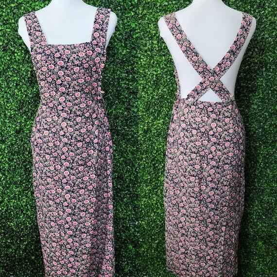 Vintage Apron Wrap Maxi Dress by La Belle