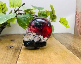 Underwater Flower Shift Knob Skull Flower Field Red-Black