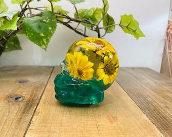 Underwater Flower Shift Knob Skull Sunflower Green