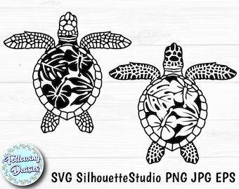 Laser Silhouette Turtle Zentangle SVG Paper cut template Vector Turtle svg Turtle Mandala Svg Cricut Mandala svg CNC plasma