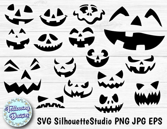 HALLOWEEN FACES in SVG Funny faces Scary faces Halloween