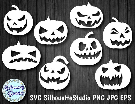 PUMPKINS in SVG format Pumpkins with terrifying faces