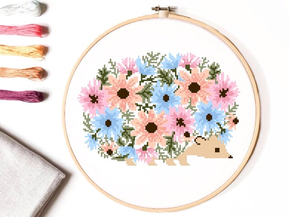 Cross Stitch Instant Download PDF Flower Painting Pattern 01