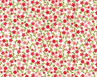100/% Cotton Poplin Fabric Rose /& Hubble Small Floral Flower Paisley Plants Ditsy
