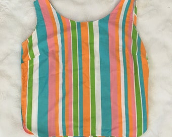 Vintage Novelty Print Vintage 1960/'s French Language Multi-Color Pop-Art Sleeveless Top Vintage Clothing Pop Art Vintage 1960/'s