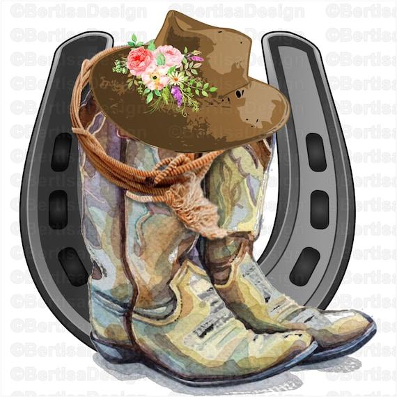 Watercolor Cowboy Boots Sublimationcowboy Hat Clip Art Horse Etsy All images is transparent background and free download. watercolor cowboy boots sublimation cowboy hat clip art horse shoe png clip art digital file