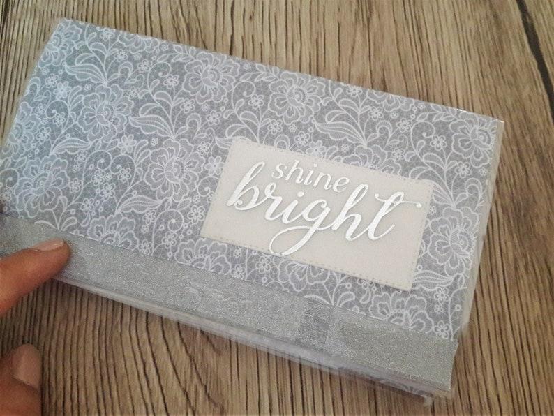 Shine bright checkbook holder