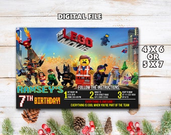 Invitation Anniversaire Lego Etsy