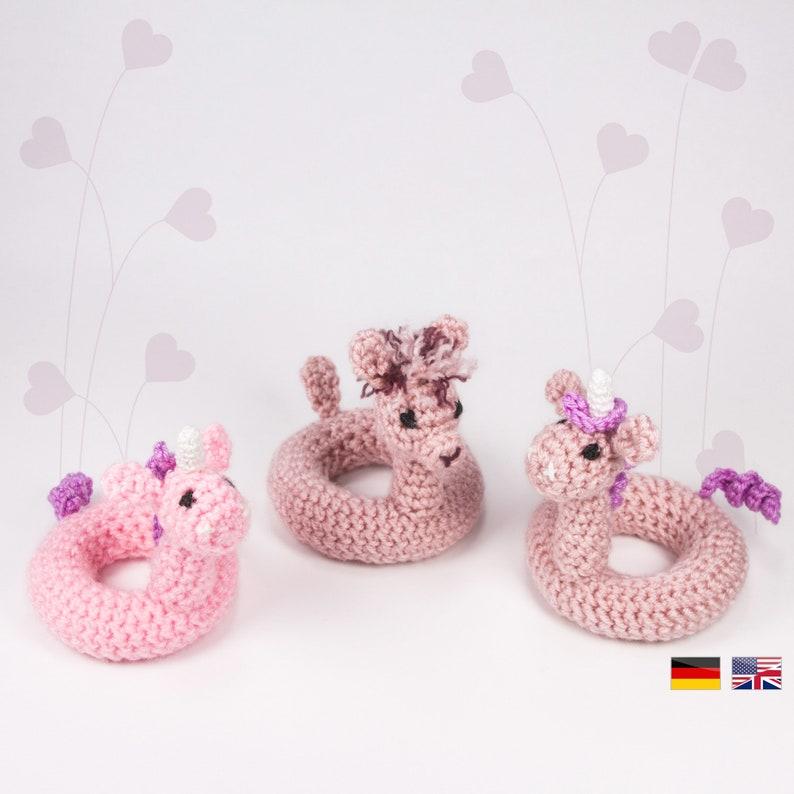 Swim Ring Unicorn/Alpaca crochet pattern PDF LuckyTwins image 0
