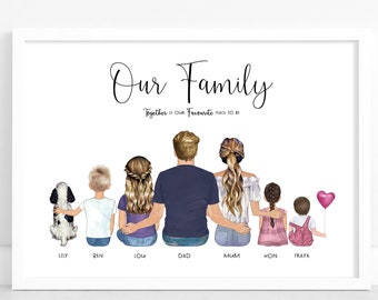 Personalised Family Print | Home Gift | Family Prints |  Personalised family gift | personalised gift | wall art | wall decor | Print Only