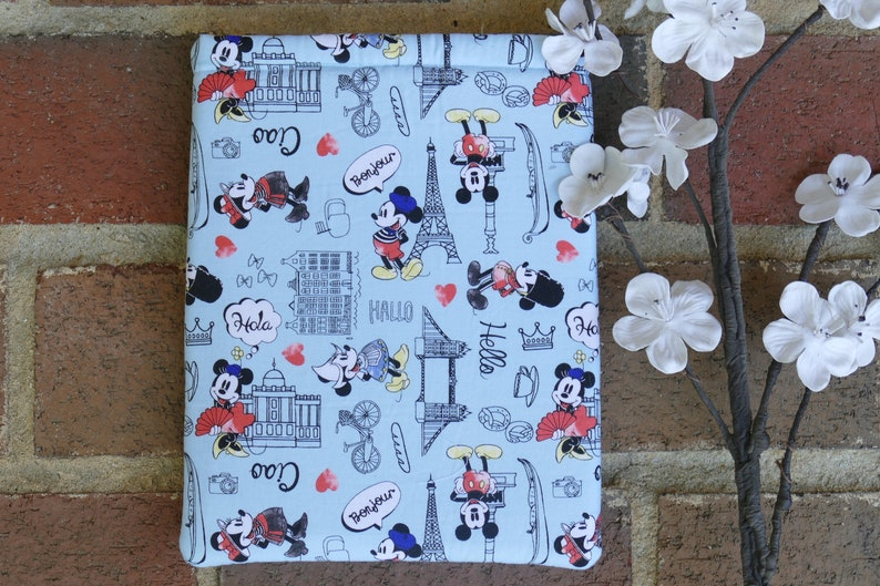 Disney Inspired Book Sleeve  Book Lover Gift  Tablet and image 0