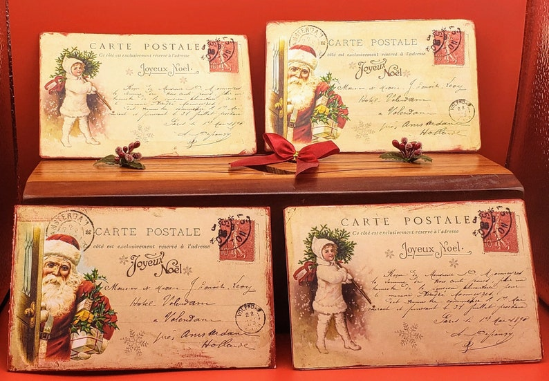 French Christmas Postcard Replicas image 0
