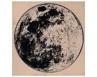 EXCEART Wooden Rubber Stamps Moon Phase Pattern Round Moon Decorative Stamp DIY Decoration Printing For Diary Journal Notebook Travel Notebook DIY Craft Random Color 8Pcs