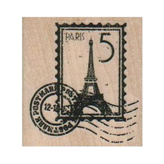 travel Sweet Grass Stamps #22 France Eiffel Tower mounted rubber stamp French Paris