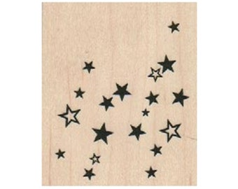 Stars RUBBER STAMP, Star Stamp, Celestial Stamp, Space Stamp, Shape Stamp, Background Stamp, Doodle Stamp, Outer Space Stamp, Falling Stars