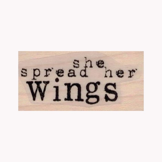 Her Wings Were Made Of RUBBER STAMP Inspirational Stamp Woman Stamp Motivational Stamp Wings Stamp Butterfly Stamp Butterfly WIngs