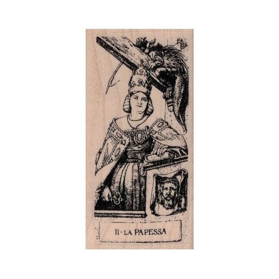 Future Stamp Tarot II High Priestess RUBBER STAMP High Priestess Stamp Magic Stamp Fortune Teller Stamp Tarot Card Stamp Fantasy Stamp