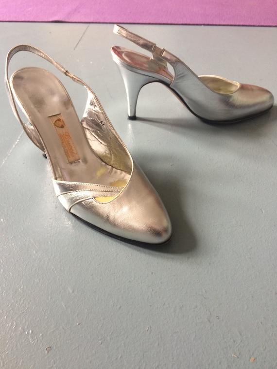 GUCCI silver heels | Etsy