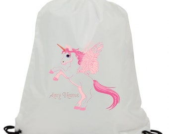 SWIMMING DOLPHIN PERSONALISED SUBLIMATION GYM DANCE BAG GREAT NAMED GIFT