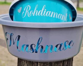 Muesli bowl horse, mash, food bowl, food bowl 6 liters, various colors, PERSONALIZED