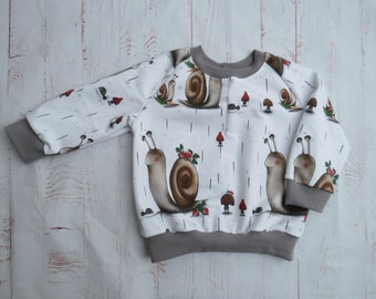 Snail race sweater, long sleeve, sweater, unisex, CUSTOMIZABLE