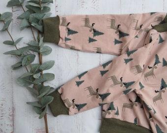Reindeer forest, long sleeve, sweater, unisex, CUSTOMIZABLE