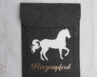 Horse passport cover rose gold, equine passport cover, with Velcro fastener, pony, horse, printed with name / text as desired