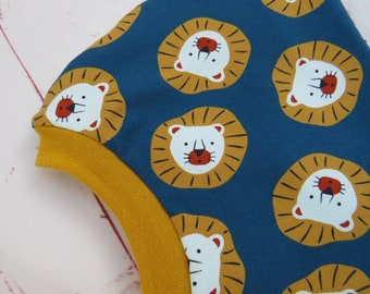 Hatch lion, cap for girls and boys, fed and unlined, please specify head circumference! with tip!